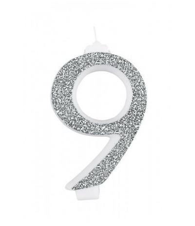 candela gigante argento 9- 13 cm