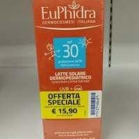 EUPHIDRA UV SYSTEM LATTE CORPO BAMBINI SPF30 200ML+DOCCIA SHAMPOO 2IN1 100ML