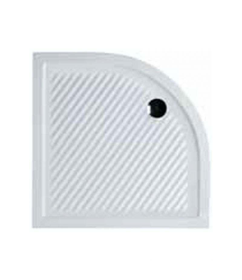 Piatto doccia in ceramica 90x90 cm semicircolare Ferdy Azzurra