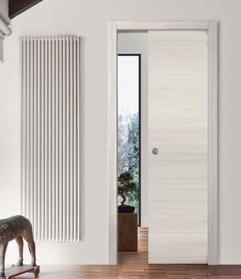 Porta scorrevole acero neve L 80 x H 210 SIMPLY 70 VENUS DESIGN
