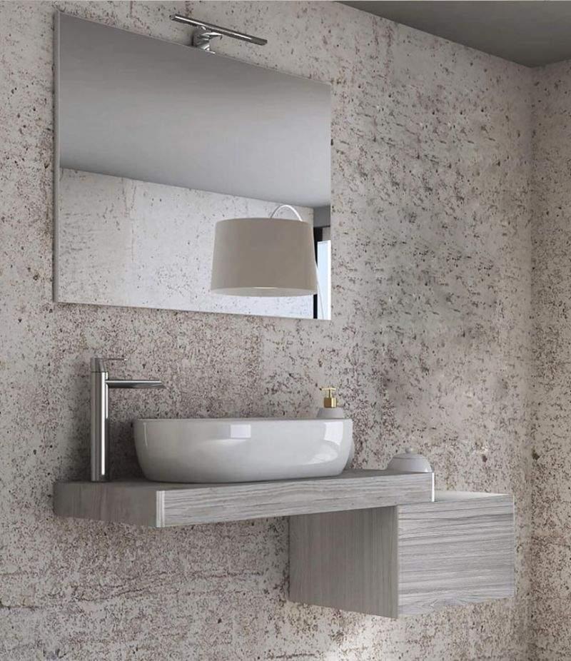 Mobile bagno Tavolone 120 cm Pino sbiancato