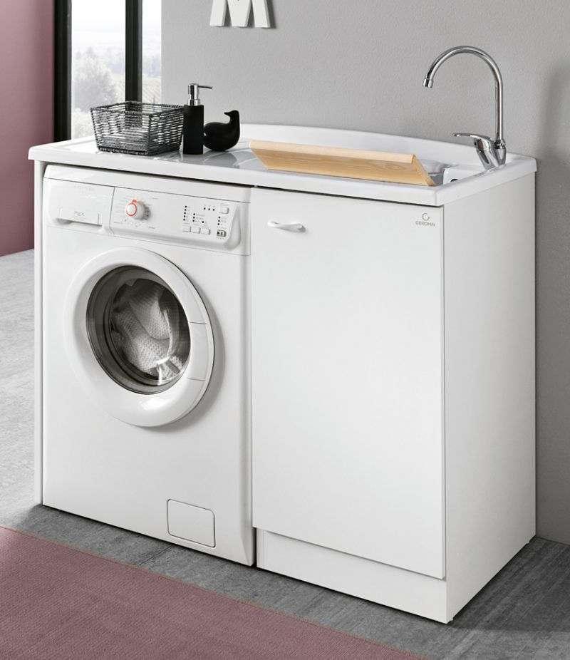 Lavatoio da interno 110x60 cm con porta lavatrice Prima Geromin