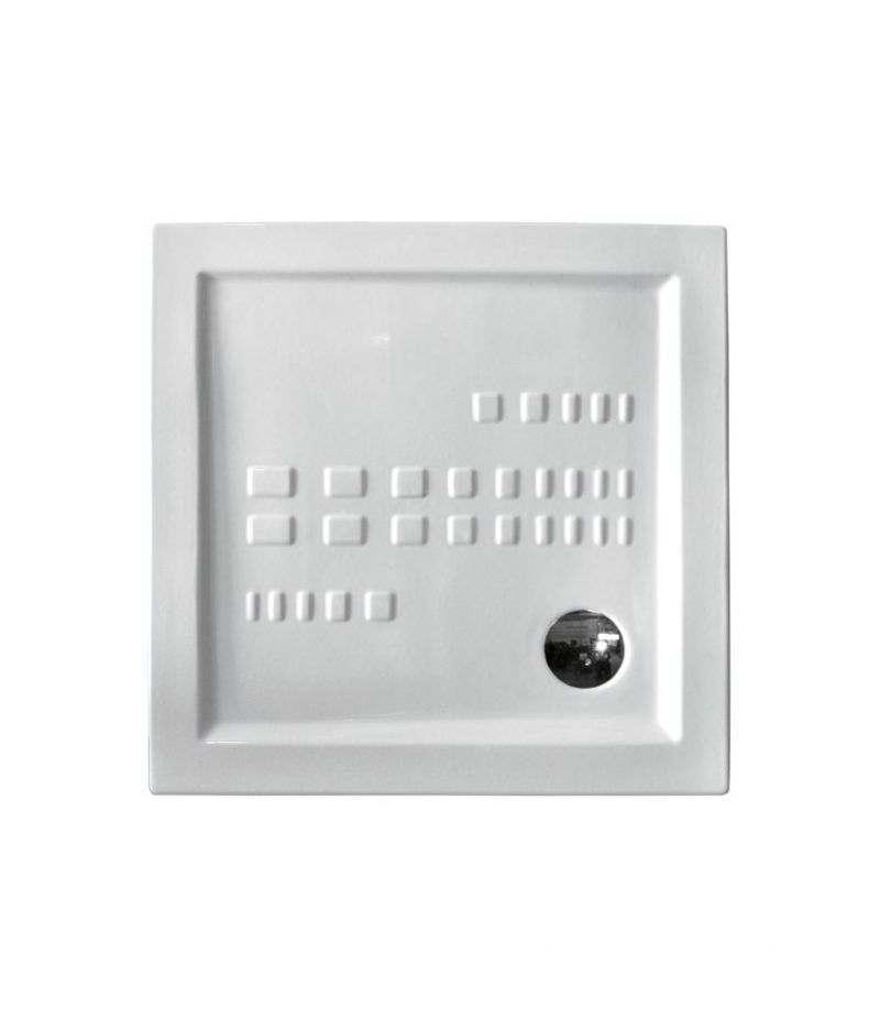 Piatto doccia in ceramica 90x90 cm quadrato in ceramica h.5,5 ITO ALTHEA