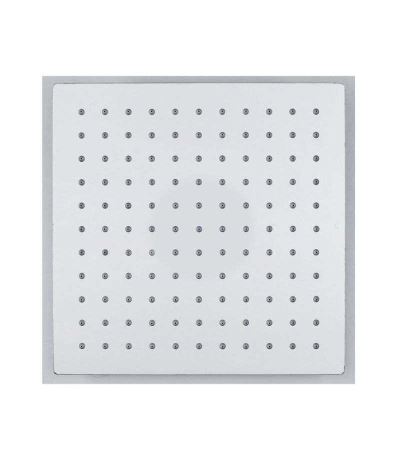 Soffione doccia quadrato 25x25 cm ultrasottile in acciaio INOX