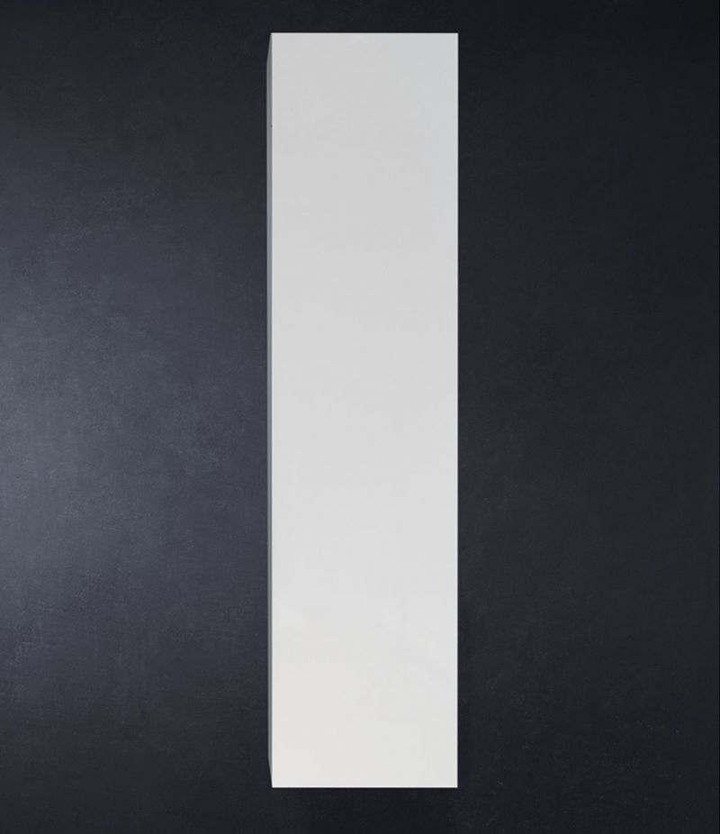 Pensile bagno colonna sospesa 35 cm Bianco Lucido con ripiani e anta