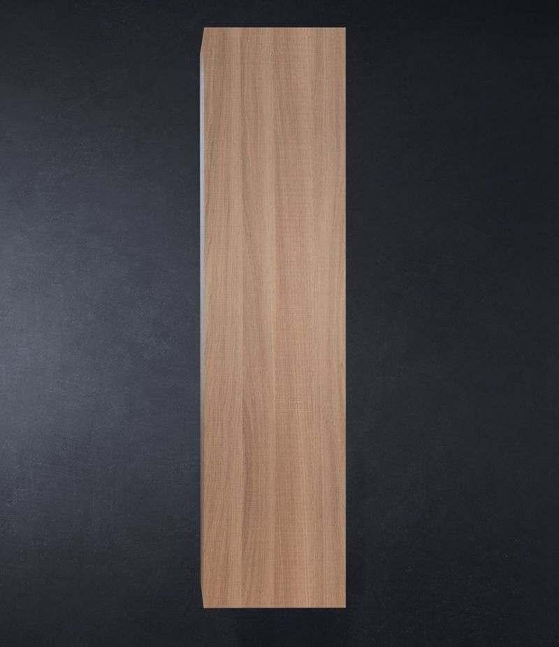 Pensile bagno colonna sospesa 35 cm Rovere Naturale con ripiani e anta