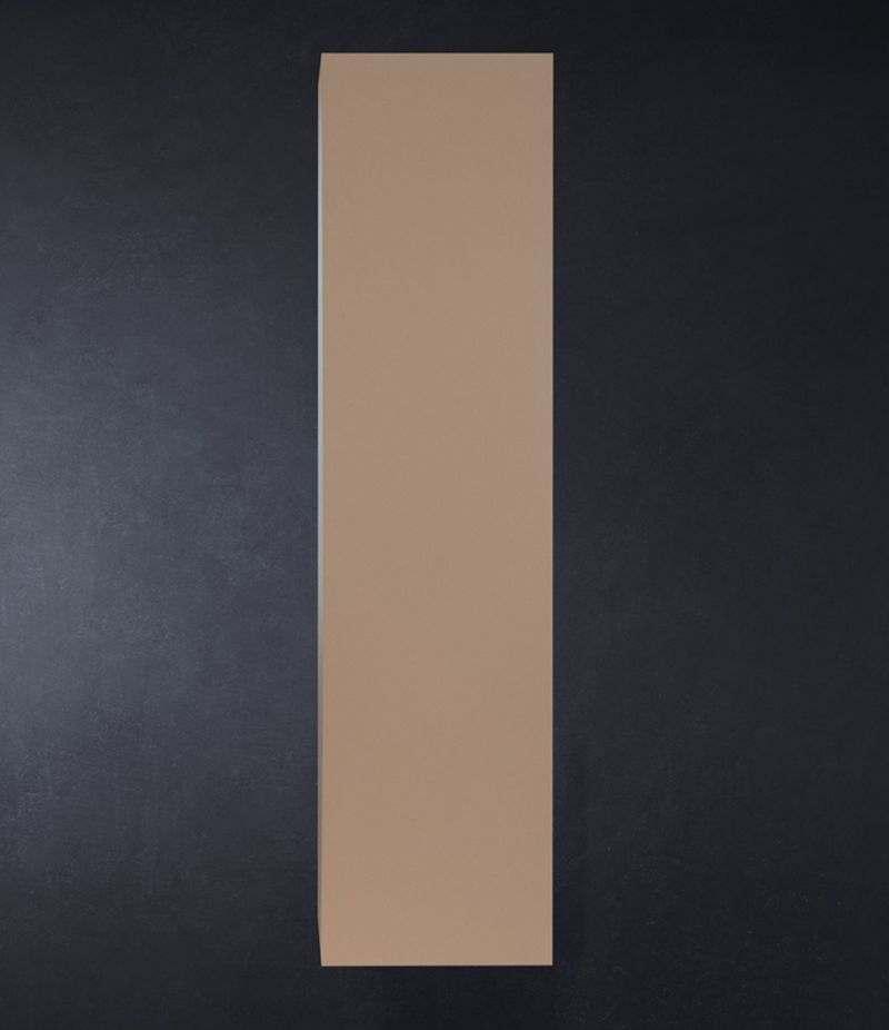 Pensile bagno colonna sospesa 35 cm Tortora Opaco con ripiani e anta