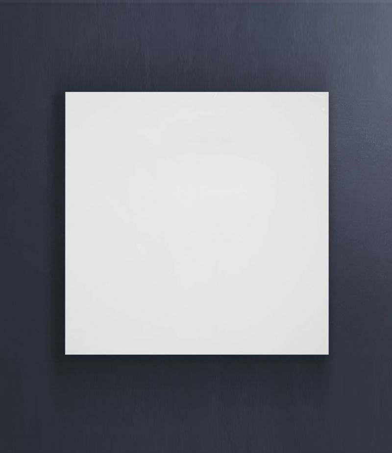 Pensile bagno cubo sospeso 45x45 cm Bianco Lucido con ripiano e anta