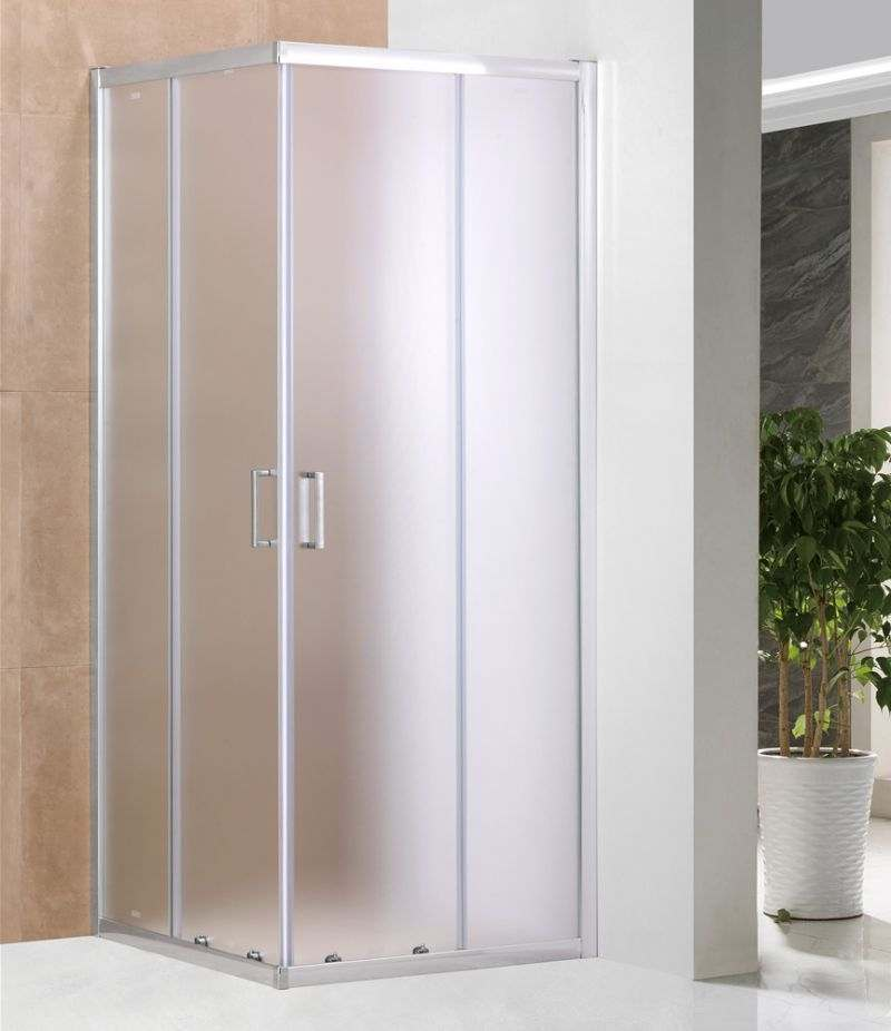 Box doccia 70x100 cm scorrevole in cristallo stampato 6 mm profili alluminio cromato
