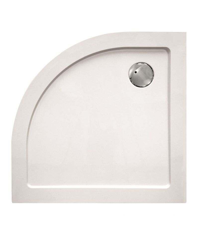 Piatto doccia Semicircolare 80x80 cm H.3,5 cm in vetroresina bianco