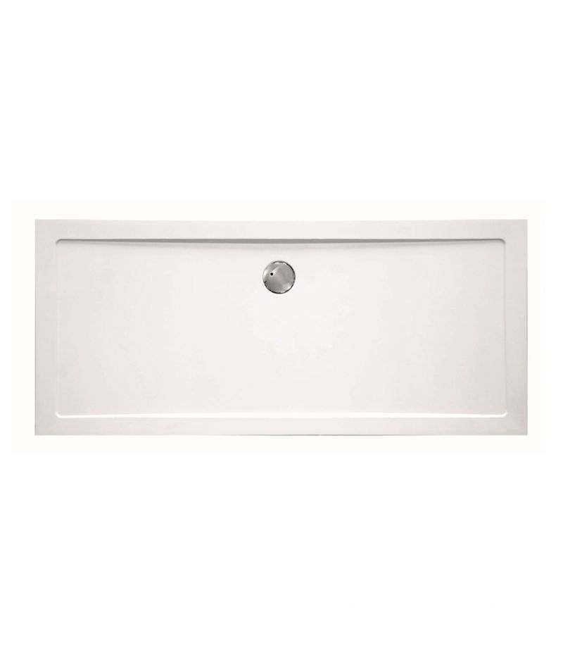 Piatto doccia rettangolare 70x120 cm H.3,5 cm in vetroresina bianco
