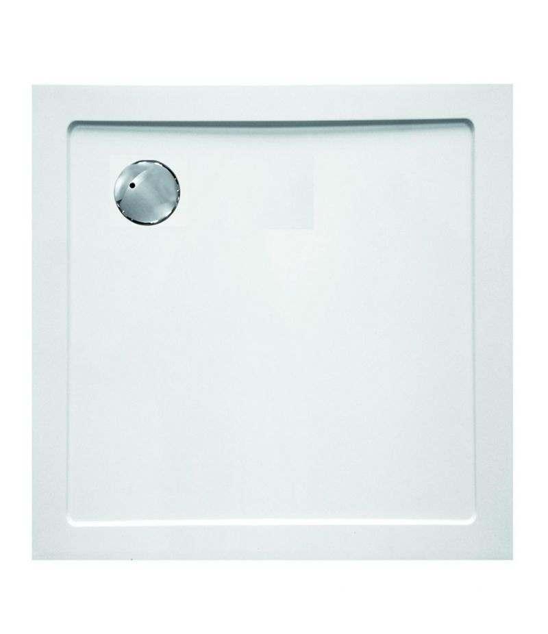 Piatto doccia quadrato 100x100 cm H.3,5 cm in vetroresina bianco