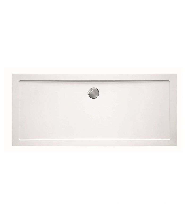 Piatto doccia rettangolare 76x170 cm H.3,5 cm in vetroresina bianco