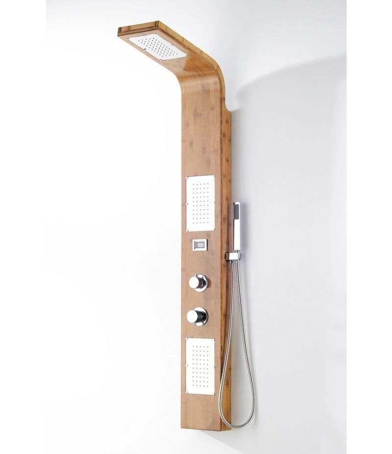 Pannello doccia idromassaggio 2 getti in legno di bambù