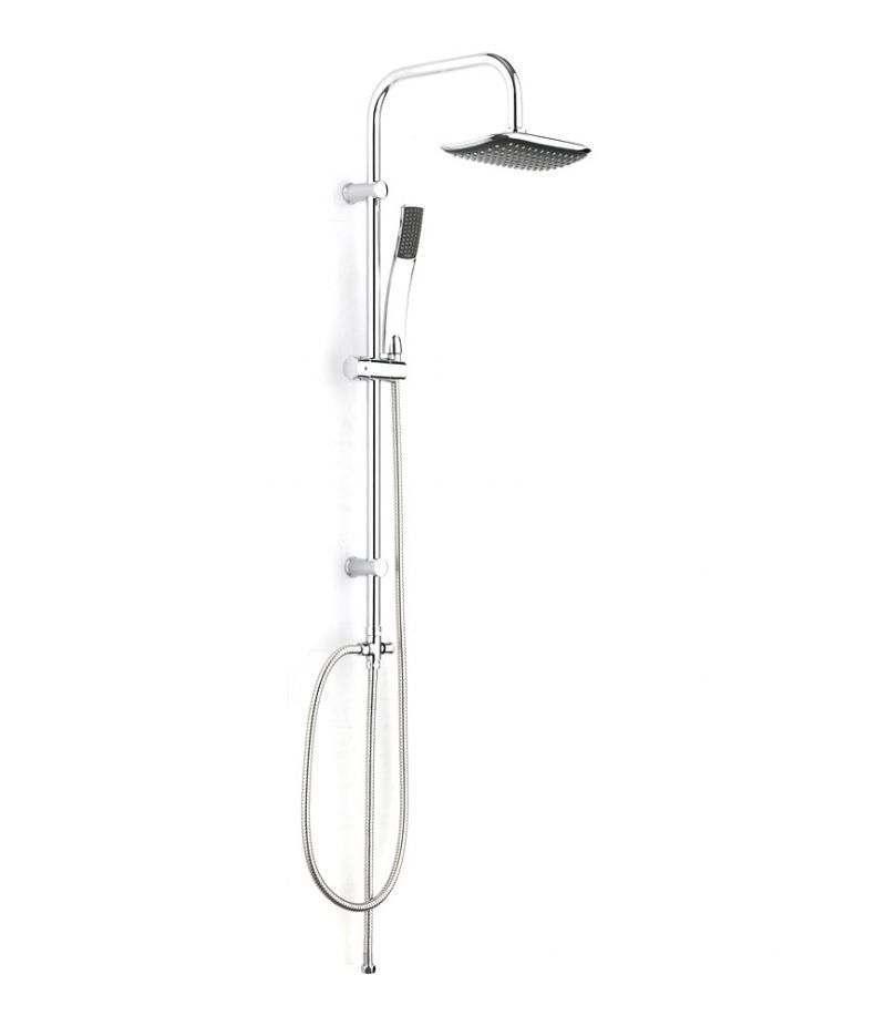 Colonna doccia con soffione rettangolare 23x15 cm saliscendi e doccino