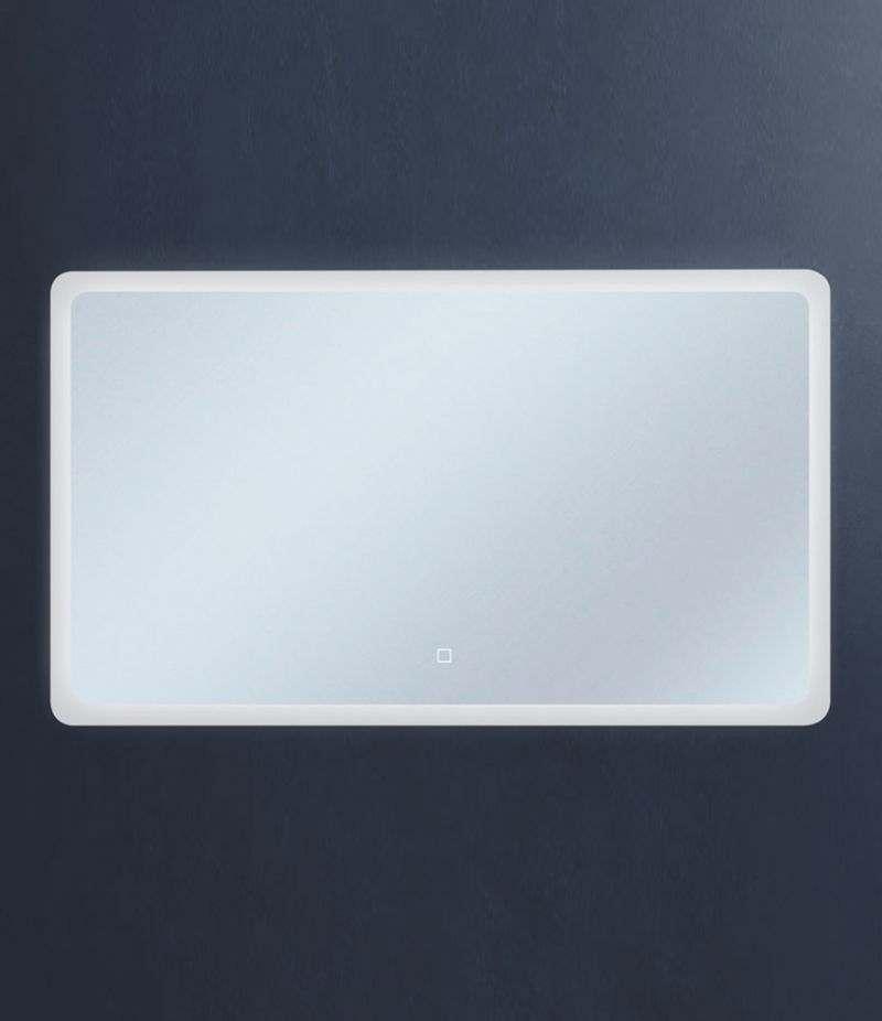 Specchio LED 120x70 cm stondato orizzontale con sensore Touch