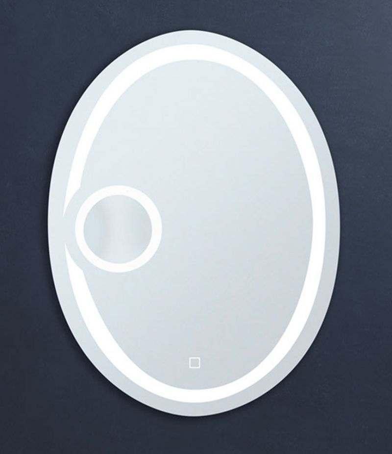 Specchio LED 60x80 cm ovale con ingranditore e sensore Touch