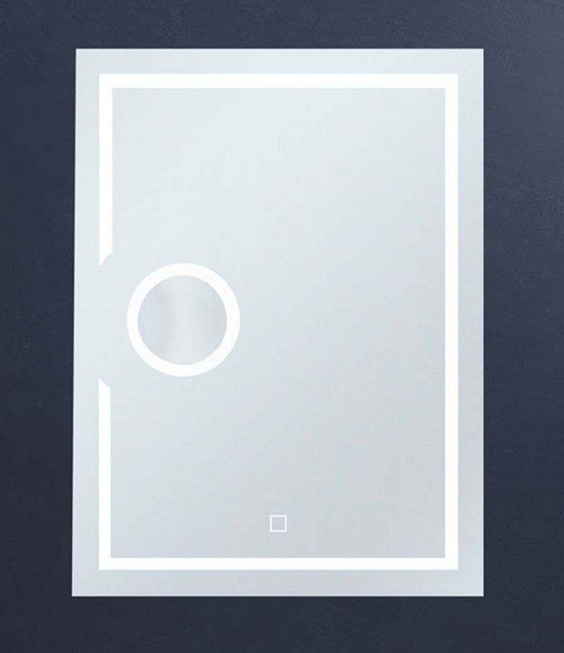 Specchio LED 60x80 cm verticale con ingranditore e sensore Touch