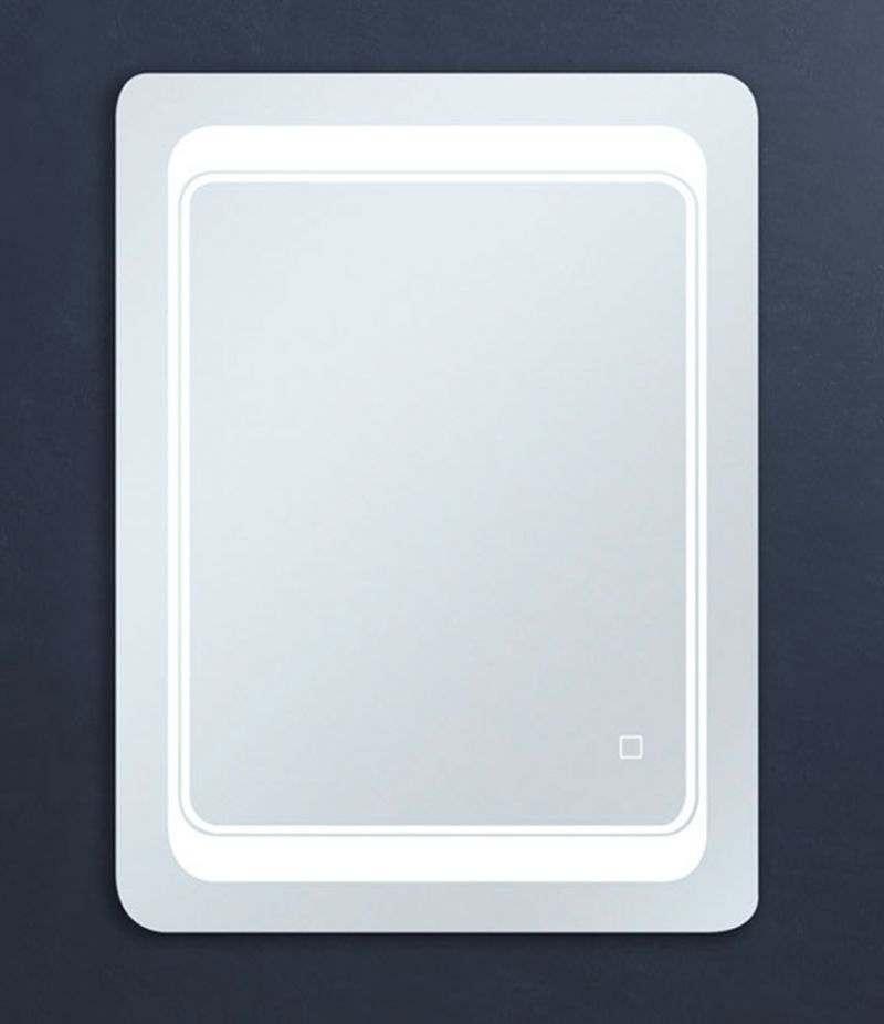 Specchio LED 60x80 cm design stondato reversibile con sensore Touch