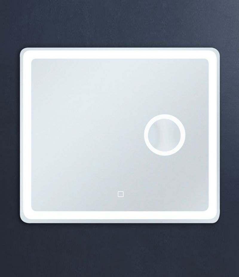 Specchio LED 70x80 cm stondato orizzontale con ingranditore e sensore Touch
