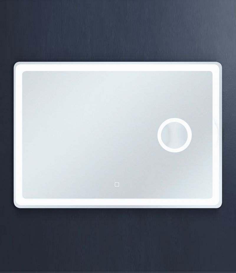 Specchio LED 70x100 cm stondato orizzontale con ingranditore e sensore Touch