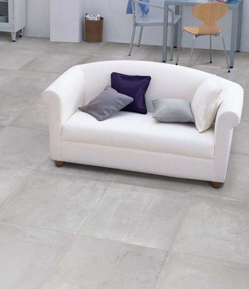 Gres Porcellanato EMOTION BLANC 80x80 cm rettificato effetto cemento