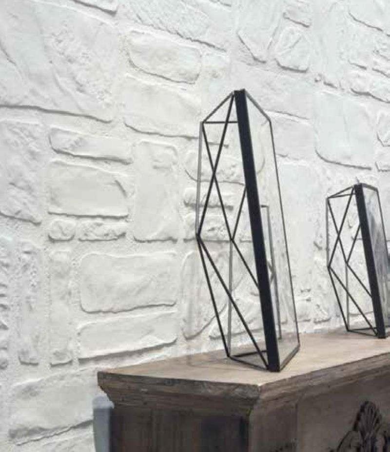 Gres Porcellanato PIETRE DI FIUME bianco 13x25 cm rivestimento effetto pietra CERAMICA RONDINE