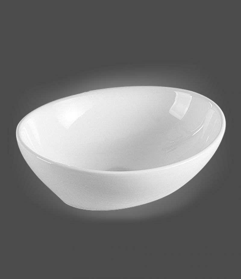 Lavabo da appoggio ovale 40x33 cm in ceramica bianco lucido