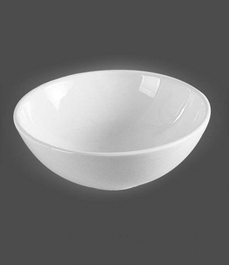 Lavabo da appoggio Svasato 42 cm in ceramica Bianco lucido