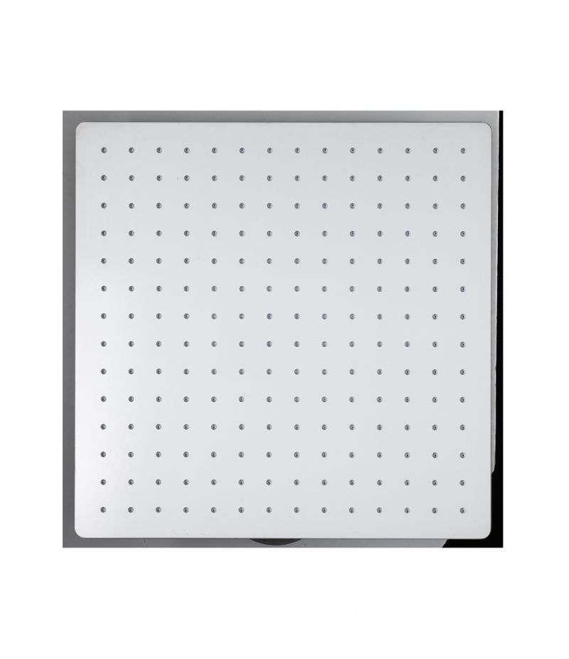 Soffione doccia quadrato 40x40 cm ultrasottile in acciaio INOX