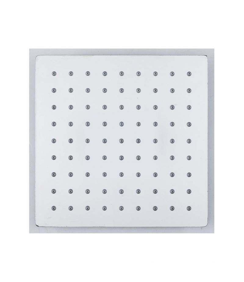 Soffione doccia quadrato 20x20 cm ultrasottile in acciaio INOX