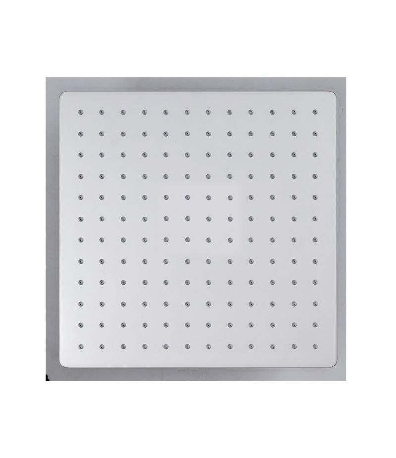 Soffione doccia quadrato 30x30 cm ultrasottile in acciaio INOX