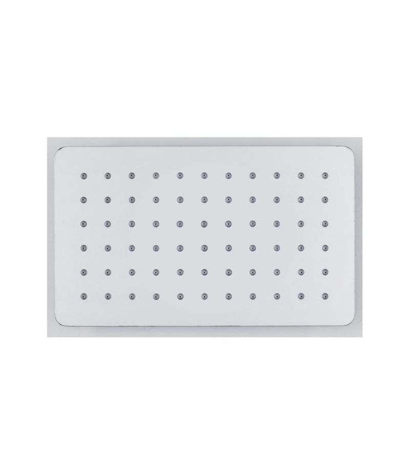 Soffione doccia rettangolare 25x15 cm ultrasottile in acciaio INOX