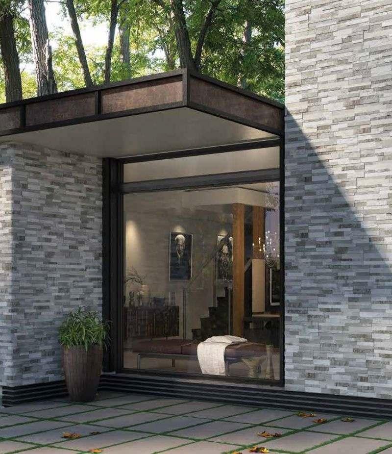 Gres Porcellanato CUBICS GREY 15x61 cm rivestimento effetto pietra 3D CERAMICA RONDINE