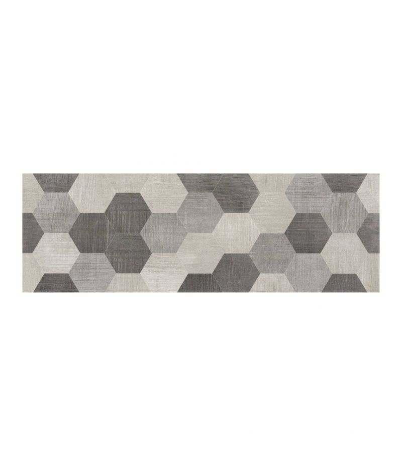 Rivestimento decoro AVALON EXAGON GREY 20x60 cm SIL CERAMICHE