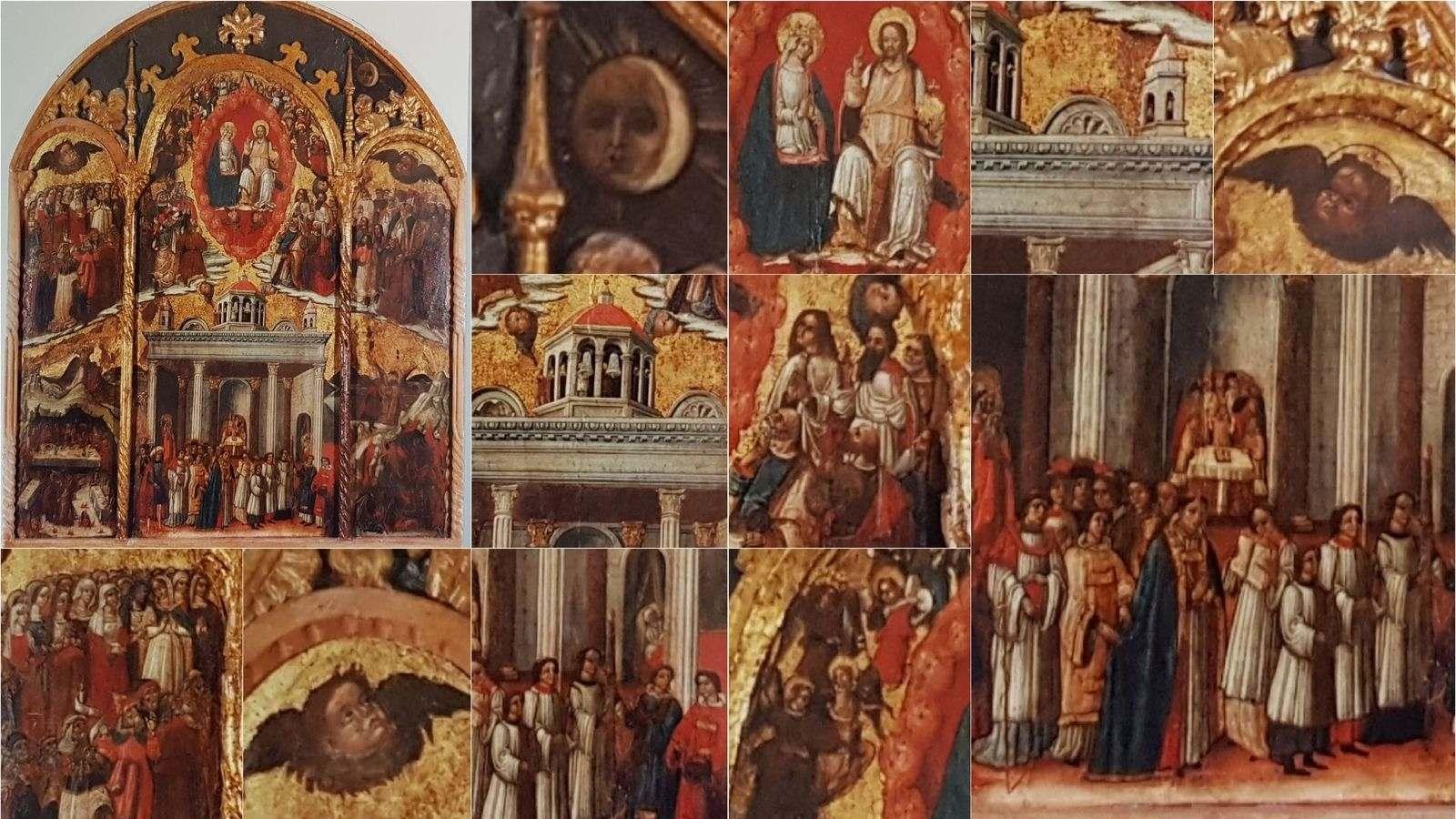 Uno scrigno di opere d'arte - Trittico dei Santi, sec. XV
