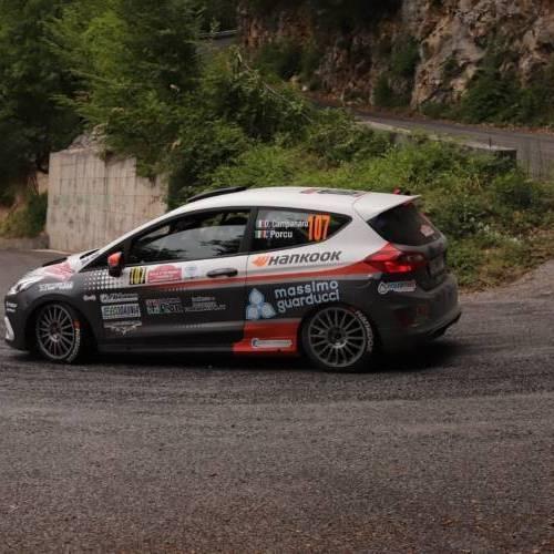 Gara conclusa per Daniele Campanaro e Matteo Ceriali al Rally di Roma Capitale