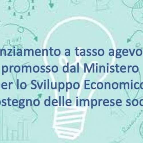 Bando:Finanziamento a tasso agevolato a sostegno delle imprese sociali.